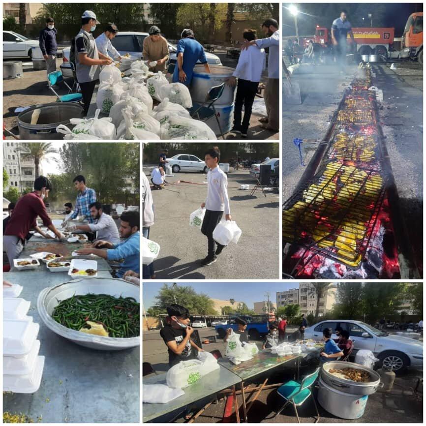 تهیه و توزیع ۵ هزار غذای متبرک علوی میان خانوادههای نیازمند