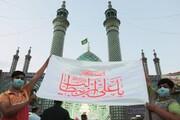 تصاویر/ جشن عید غدیر در صحن هلال بن علی (ع) آران و بیدگل