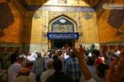 بالصور/ المؤمنون يحيون عيد الغدير بتبادل التهاني والتبريكات ومشاعر من البهجة والسرور في الصحن العلوي