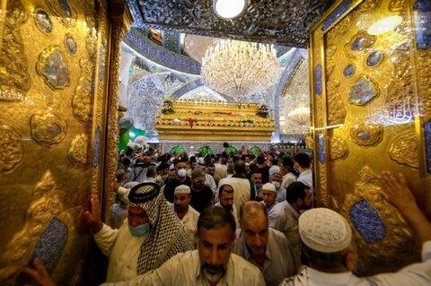 حرم حضرت امیرالمومنین (ع) غرق در شادی عید بزرگ غدیر