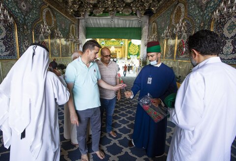 حال و هوای حرم حضرت ابوالفضل العباس(ع) در عید غدیر