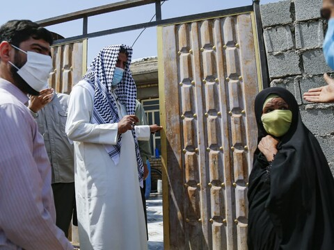 بازدید جمعی از ستایشگران مذهبی کشور از روستاهای محروم خوزستان