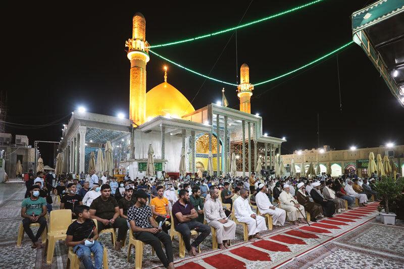 تصاویر/ سامرا میں روضہ امامین عسکریین (ع) جشن عید اکبر ''عید غدیر''