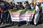 امام جمعه شوش در صف اول اعتراضات کارگران هفتتپه + عکس