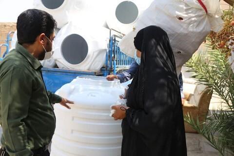 توزیع ۲ هزار مخزن آب به مناطق دارای تنش آبی خوزستان