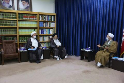 تصاویر/ دیدار هیئت مدیره مجمع عالی حکمت و فلسفه با آیت الله اعرافی