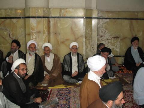 """تصاویر آرشیوی از مراسم """"محکومیت جنایات رژیم صهیونیستی در جنوب لبنان"""" در مسجد اعظم قم مرداد ماه ۱۳۸۵"""