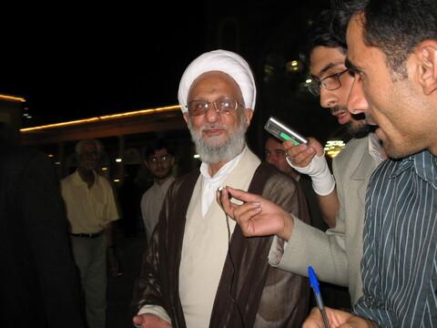 تصاویر آرشیوی/ مراسم حمایت از شهدای لبنان در مسجد اعظم با سخنرانی آیت الله بوشهری در مردادماه ۱۳۸۵