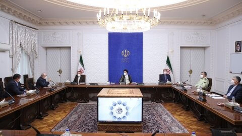 حجت الاسلام والمسلمین  رئیسی در جلسه روسای کمیته های تخصصی کرونا