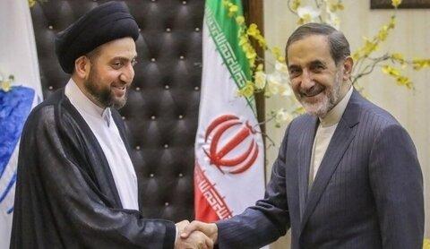 ولايتي يستقبل عمار الحكيم في طهران