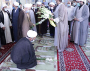 تجدید میثاق نماینده جدید ولیفقیه در استان سمنان با شهدا + عکس