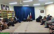 بالصور/ محافظ ومندوبي محافظة هرمزغان جنوبي إيران يلتقون بآية الله الأعرافي بقم المقدسة