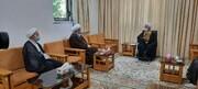 مسئولان حوزه علمیه تهران با آیت الله العظمی جوادی آملی دیدار کردند + عکس