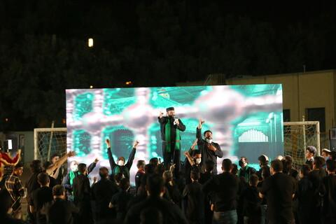 تصاویر / مراسم عزاداری شب پنجم ماه محرم در ورزشگاه حیدریان قم