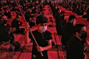 تصاویر/ عزاداری مردم یزد در مدرسه مدینه العلم کاظمیه