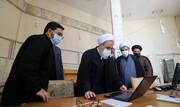 تصاویر/ بازدید آیت الله اعرافی از مرکز مطالعات و پاسخگویی به شبهات