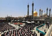 اقامه نماز ظهر عاشورا در حرم حضرت معصومه(س) و مسجد جمکران
