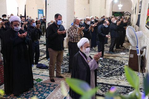 تصاویر / برگزاری مراسم نماز جمعه قزوین در ایام ماه محرم