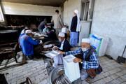 تصاویر/ پخت غذای نذری در روستای مرزی اهل سنت فورگ خراسان جنوبی