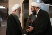 تصاویر آرشیوی از حضور مرحوم محمودی در خبرگزاری حوزه - سال ۹۲