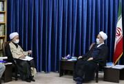 تصاویر/ دیدار رئیس دانشگاه قم با آیت الله اعرافی
