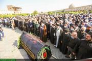 بالصور/ مراسم تشييع جثمان الفقيد آية الله السيد كمال فقيه إيماني في أصفهان