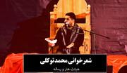 فیلم   شعرخوانی محمد توکلی در دومین شب هیئت هنر و رسانه