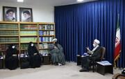 تصاویر/ دیدار رئیس دانشگاه حضرت معصومه(س) با آیت الله اعرافی