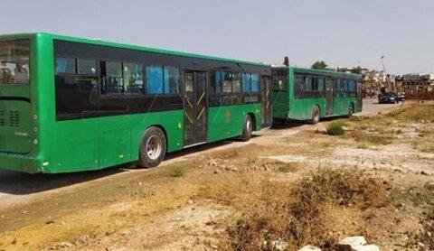 خروج إرهابيين بحسب اتفاق التسوية في درعا باتجاه الشمال السوري