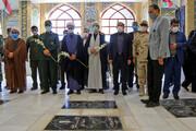 تصاویر/ غبارروبی گلزار شهدای بجنورد به مناسبت هفته دولت