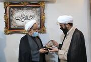 تصاویر/ بازدید رئیس سازمان نشر آثار و ارزشهای مشارکت روحانیت در دفاع مقدس از رسانه رسمی حوزه