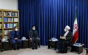 تصاویر/ دیدار رئیس شورای عالی استان ها با آیت الله اعرافی
