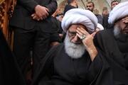 بالفيديو/ آية الله النجفي وعلماء دين عند جثمان آية الله الحكيم