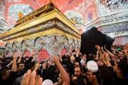 تصاویر/ تشییع پیکر آیت الله حکیم در حرم امام حسین(ع) و حضرت عباس(ع)