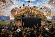 بالصور/ مراسم التشييع المهيب للجثمان الطاهر للفقيد آية الله السيد الحكيم