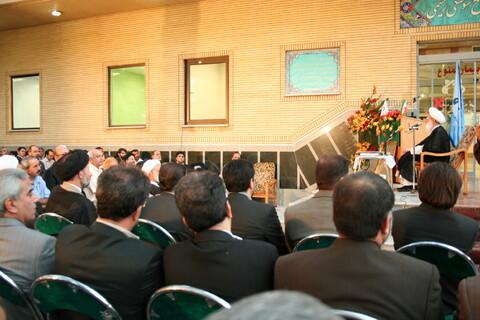 تصاویر آرشیوی از مراسم افتتاح بخش سوانح سوختگی بیمارستان نکویی قم با حضور آیت الله العظمی نوری همدانی-شهریور ۸۶