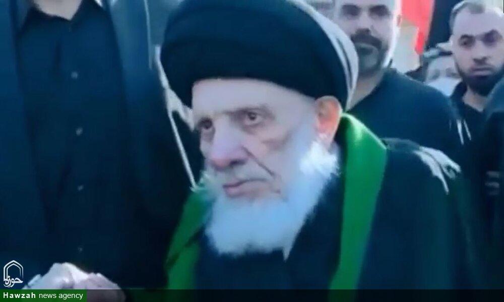 مرحوم آیتالله سید محمد سعید حکیم اربعین