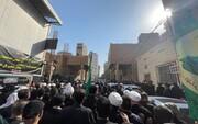 مراسيم التشييع المركزي لجثمان آية الله  السيد محمد سعيد الحكيم من مكتبه في النجف