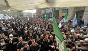 بالصور/ مراسيم التشييع المركزي لجثمان آية الله السيد محمد سعيد الحكيم من مكتبه في النجف