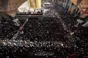 بالصور/حضور مهيب خلال مراسم تشييع جثمان آية الله العظمى الحكيم في مرقد أمير المؤمنين (عليه السلام)