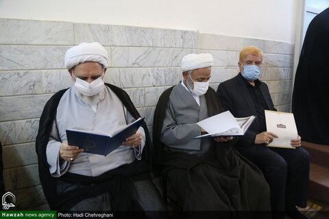 بالصور/ إقامة مجلس تأبين للفقيد المرجع الديني آية الله العظمى السيد محمد سعيد الحكيم بمدينة قم المقدسة