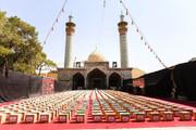 تصاویر/ رزمایش شمیم حسینی اوقاف در امامزاده میر حمزه اصفهان