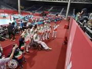 ادای احترام ورزشکاران پارالمپیکی ایران به مادر شهید ژاپنی