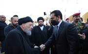 الحلبوسي يحضر مجلس عزاء  آية الله الحكيم في مسجد السهلة