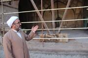 توقف یک ساله مرمت و بازسازی گنبد و مسجد مدرسه  تاریخی سردارین قزوین!