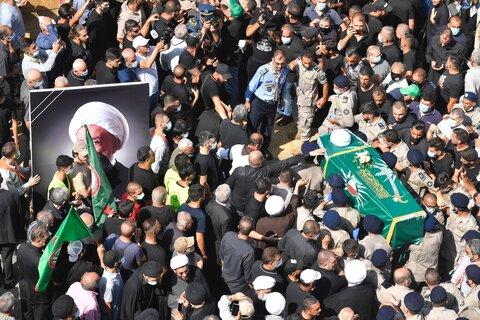 مراسم تشییع و تدفین آیت الله قبلان در لبنان