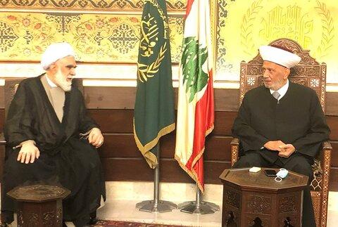 حجت الاسلام اختری در دیدار مفتی اهل سنت لبنان