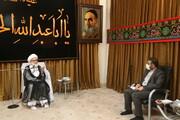 تصاویر / دیدار وزیر فرهنگ و ارشاد اسلامی با آیت الله العظمی نوری همدانی