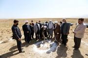 تصاویر/ آیین کلنگ زنی مجتمع فرهنگی-آموزشی مفتاح نوبران استان مرکزی