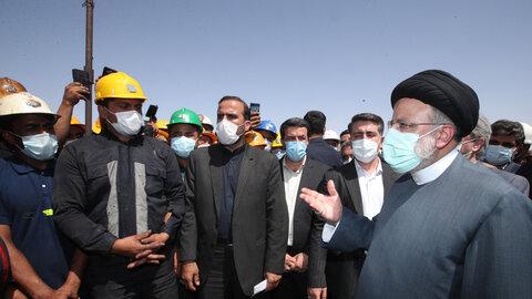 بازدید رئیس جمهور از معدن زغال سنگ پروده طبس